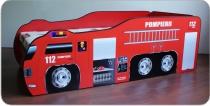 pat copii masina pompieri